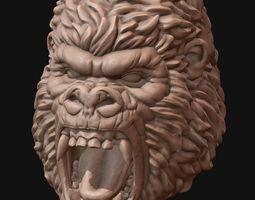 3d print model gorilla head