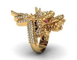 3D print model dragon ring gem