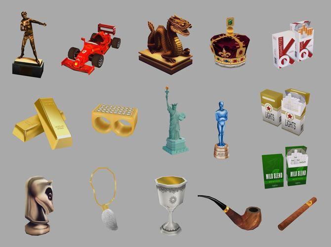 various objects 3d model obj fbx dae tga 1