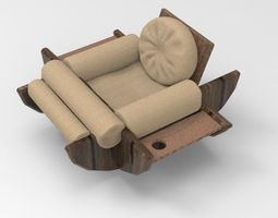 3D model Sofa Modern and Comfortable