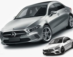 Mercedes A-class sedan 2 versions 3D
