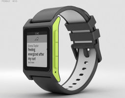 3D model Pebble 2 Charcoal Lime