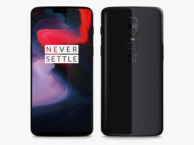 oneplus 6 black 3d model max obj mtl 3ds fbx c4d ma mb 1