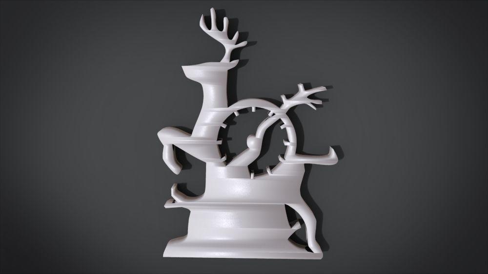 Decorative clock furniture with deer motif design