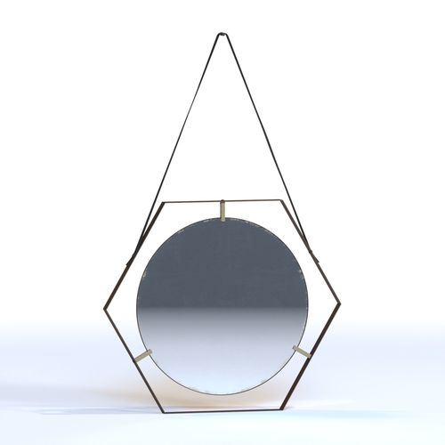 hexagonal 50s mirrors 3d model max obj mtl fbx 1