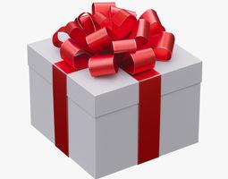 Christmas gift box 02 3D