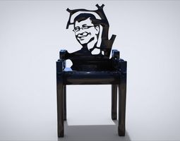 Unique Chair Ornament with with 3D printable model 2