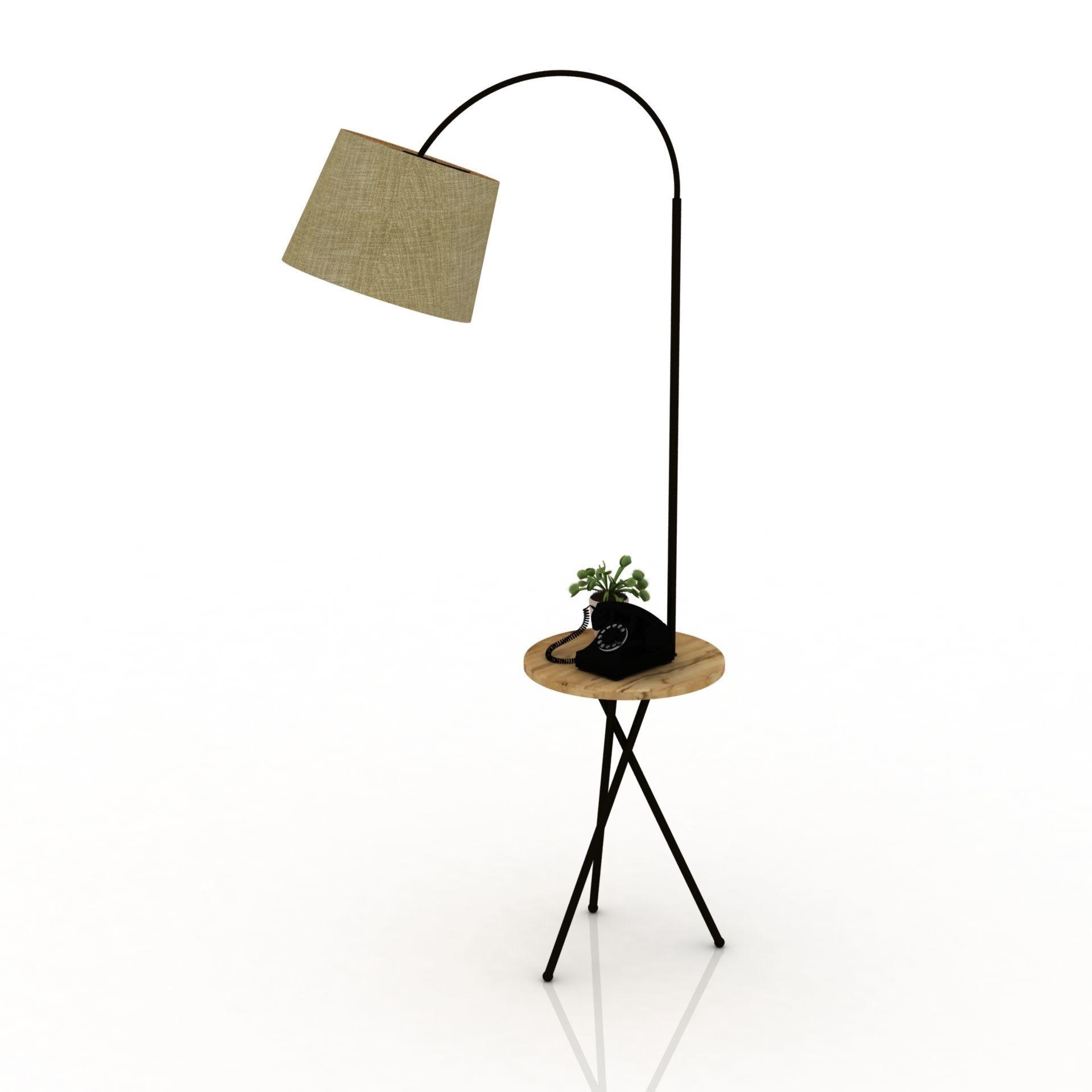 3d Abat Jour Et Table De Coin Edisonlamp Cgtrader