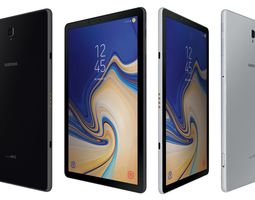 3D Samsung Galaxy Tab S4 Black And Silver