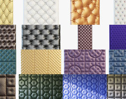 3d different wall panels for walls in the interior of 41 models