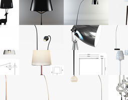 3D Collection different floor lamps for your projects 15 1