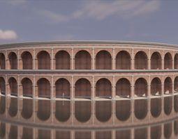 3D Roman coliseum like structure brick and concrete