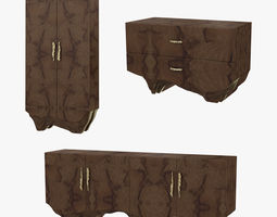 Brabbu huang furniture set 3D