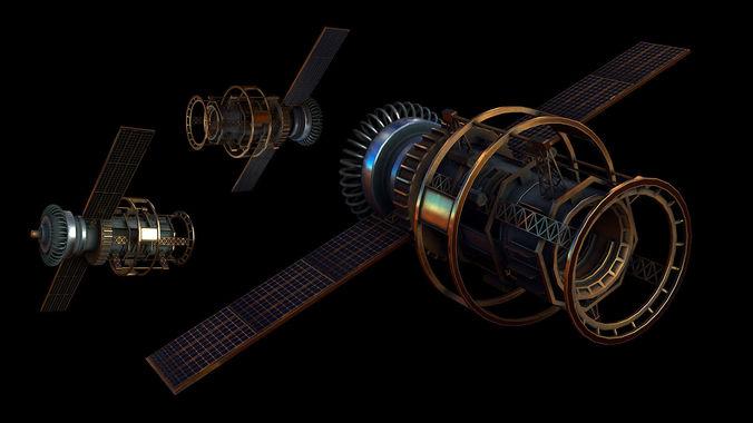 satellite 3d model max obj mtl 1