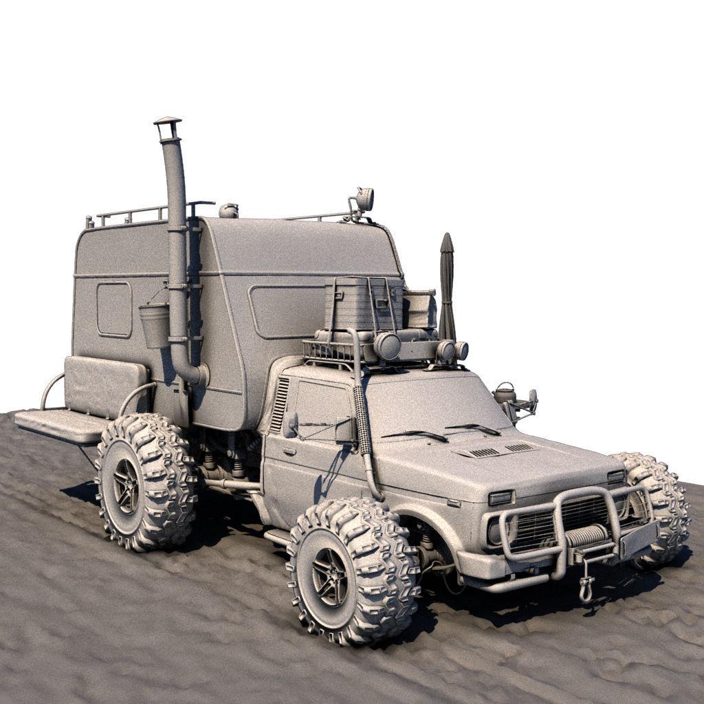 Post Apocalyptic Caravan Truck