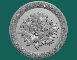 art decor ornament relief 3D REAL PICTURE SCAN wooden