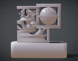 Decorative clock furniture with Koala 3D printable model 1