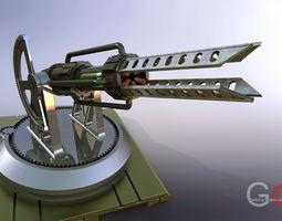 tesla cannon 3d model