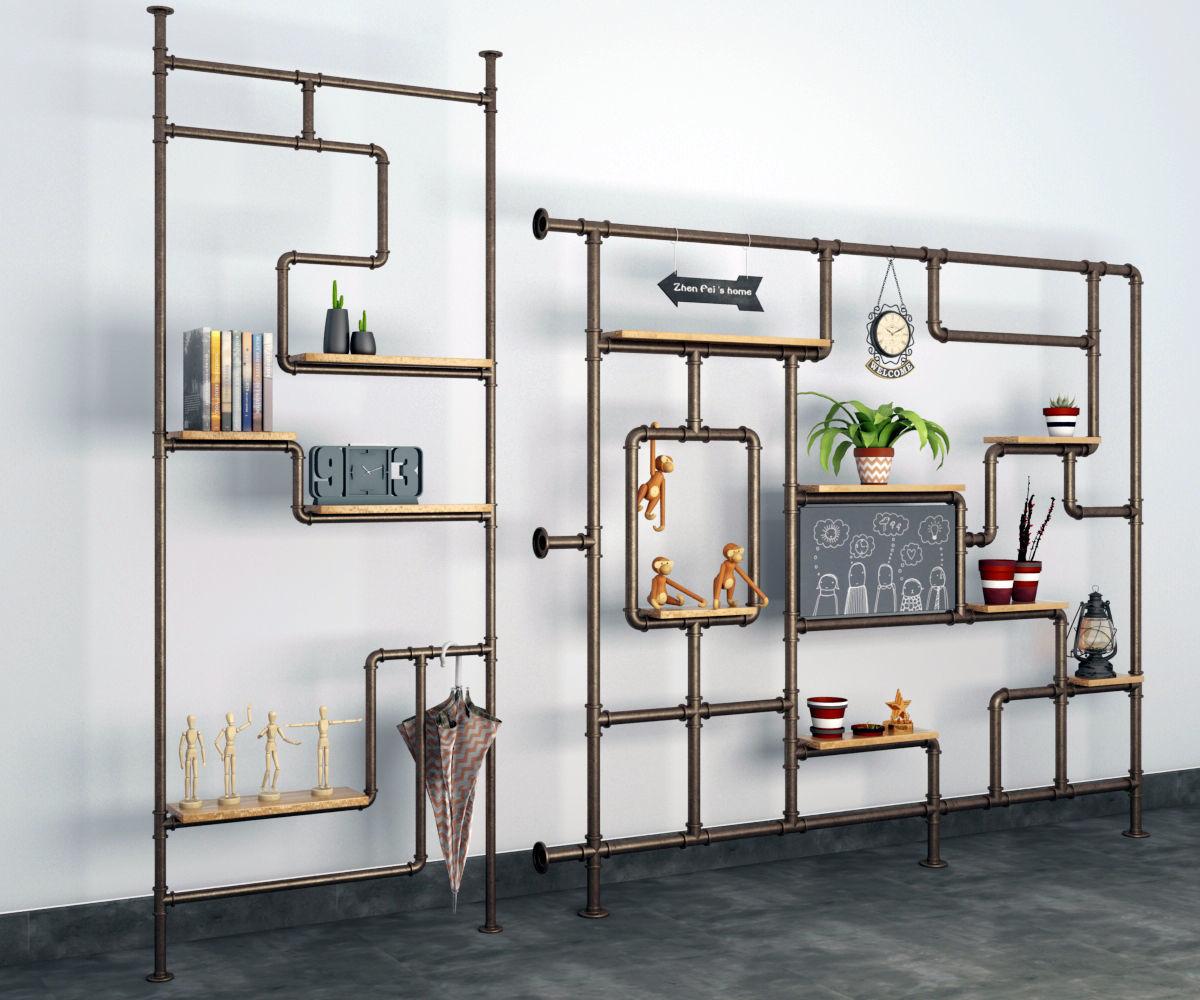 Pipe Wall Shelf Model Max Obj Mtl S Fbx C4d Blend 2