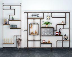 Industrial Pipe Wall Shelf 3D