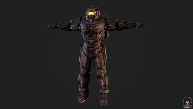 spacemarine 3d model low-poly fbx 1