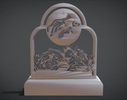 3D print model Decorative clock furniture with Fish motif