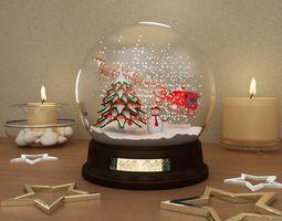 3D model snow globe