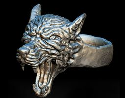 3D print model wolf Wolf Ring