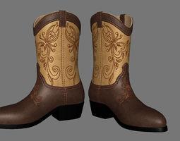 3D asset Men boots