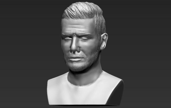 David Beckham bust 3D printing ready stl obj formats