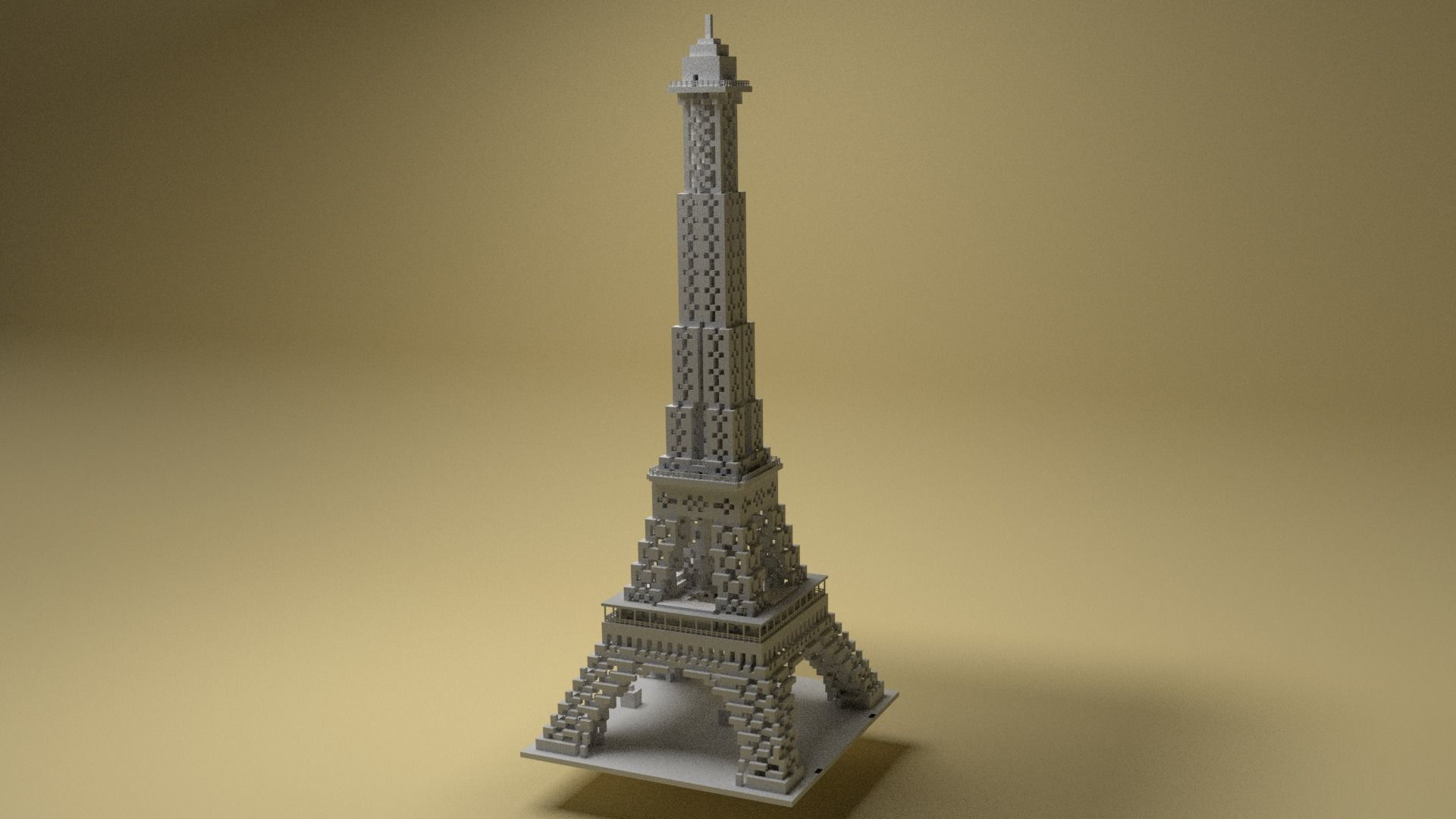 Eiffel Tower Voxel