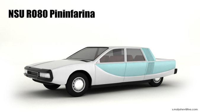 nsu ro80 pininfarina 3d model max 1