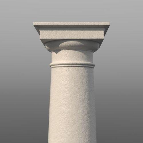 tuscan column 3d model low-poly obj mtl fbx lxo lxl 1