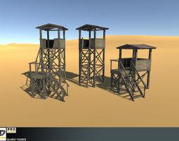 3D asset Military Guard Tower