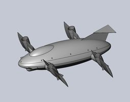 Printable Tiltwing Tiltrotor Drone Body aircraft