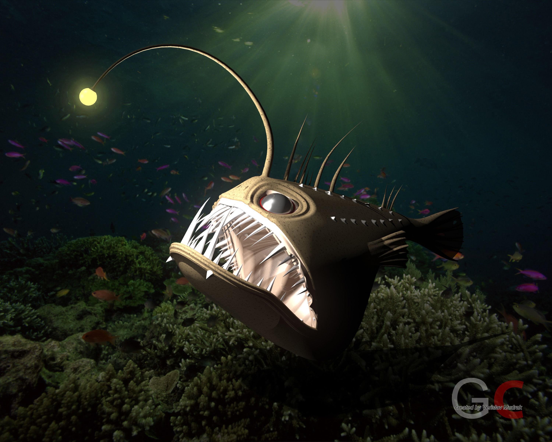 Angler fish - ANGUS free 3D Model STL SLDPRT SLDASM SLDDRW ...