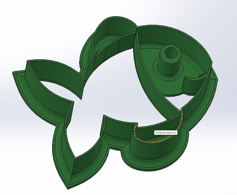 Happy fish cookie cutter