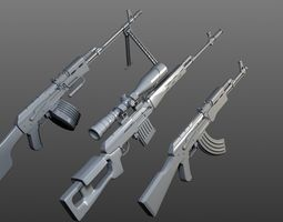 3D model Kalashnikov collection