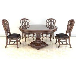 Classic European Dinning Table 3D