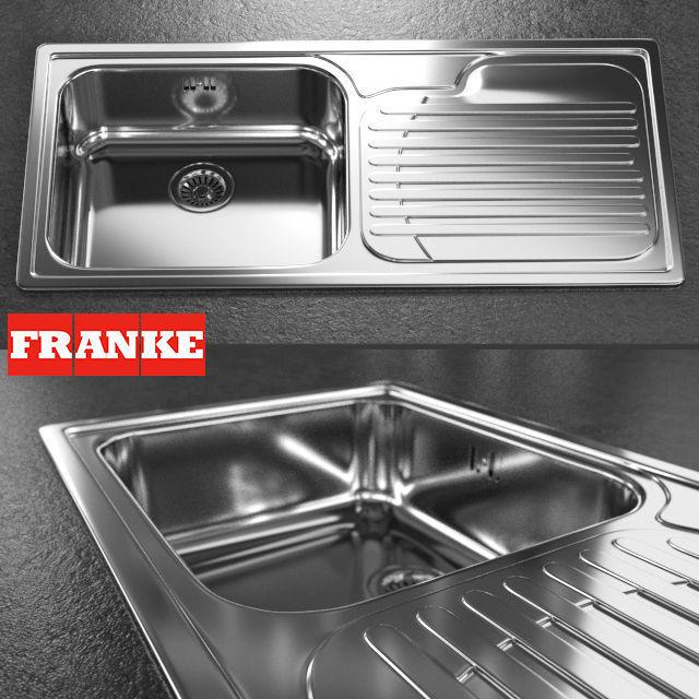 sink - Franke - Galassia GAX 611 | 3D model