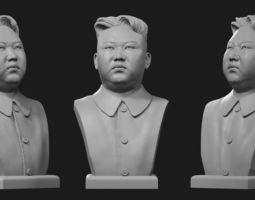 3D print model Kim Jong-Un bust 1