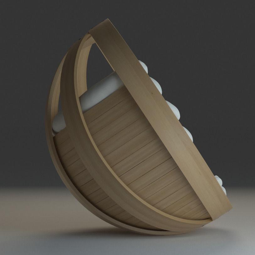 Cradle Chair 3D Model MAX OBJ FBX