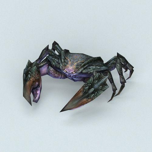 fantasy monster crab 3d model low-poly max obj mtl fbx c4d ma mb 1