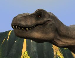 Rexy Jurassic Park Inspired model animated dinosaurs