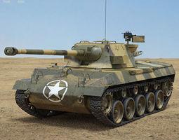 armored M18 Hellcat 3D