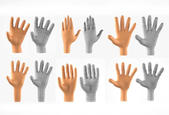 hands basemesh collection 3d models 3d model max obj mtl 1