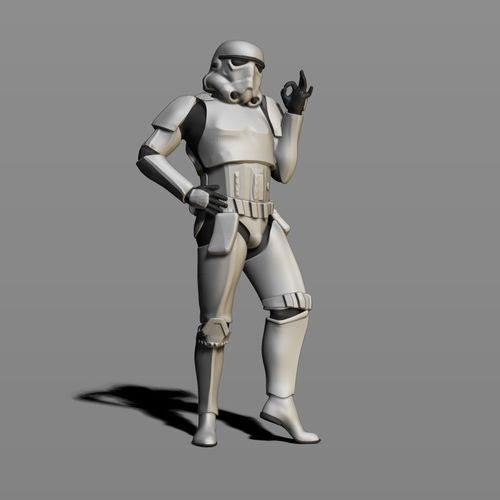 imperial stormtrooper 3d model obj mtl fbx stl ztl 1