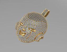 Frieza gold pendants NN083 3D print model