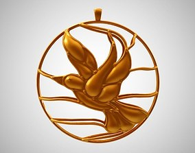 Cage Bird Necklace 3D print model