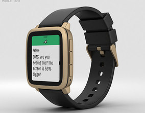 screen 3D model Pebble Time 2 Gold